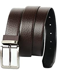 CREATURE Men's Genuine Leather Black & Brown Reversible Belt(Colour-Black & Brown||Italian Leather||E-002||REVERSIBLE)