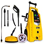 Wilks USA RX525 High Pressure Washer – Very High 165 BAR - Includes 5 Nozzles, Patio Cleaner Plus Scrub and Rotary Driven Brushes