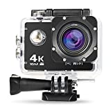 NexGadget Sport Kamera 4K WiFi Ultra Full HD 16MP IP68 Wasserdichte Sport Actioncam Helmkamera Sport Kamera Action Camera 30fps mit Zubehör Kit, 170° Weitwinkel 2,0 Zoll LCD
