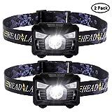 Six Foxes USB Wiederaufladbare LED Stirnlampe Kopflampe, Sehr hell LED Stirnlampe Kopflampe Sensor Kopfleuchte, Wasserdicht Mini stirnlampen Perfekt fürs Laufen, Joggen, Angeln, Campen