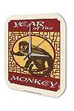 Wanduhr Horoskop Jahr Affe China Acryl Wand Deko Uhr Nostalgie