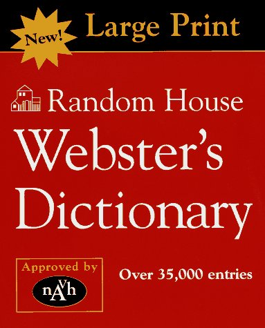 Random House Webster's Dictionary--Large Print Edition (PB) (Websters Wörterbuch Großdruck)