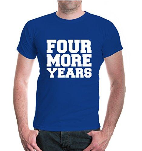buXsbaum® T-Shirt FOUR MORE YEARS Royal-White