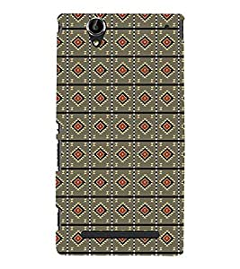 PrintVisa Designer Back Case Cover for Sony Xperia T2 Ultra :: Sony Xperia T2 Ultra Dual SIM D5322 :: Sony Xperia T2 Ultra XM50h (Girly Pattern Tribal Floral Fabric Culture Rajastan Andhra)