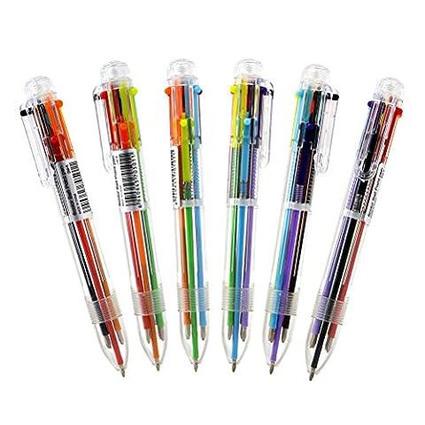 NUOLUX Multicolor Kugelschreiber 6 Farbe Multicolor Kugelschreiber Office School Supplies