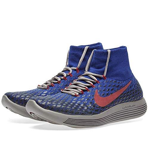 51T0JikUtUL. SS500  - Nike Women's Lunarepic Flyknit Shield GYAKUSOU Shoe (5.5, Deep Royal Blue/White/Black)