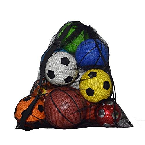 Extra große Sports Kordelzug Mesh Ball Tasche Training Equipment Aufbewahrungstasche Tauchen Waren Organizer mit Schultergurt