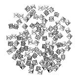 MagiDeal Assortimento Articoli Di Gioielleria Ornamento Diy Mestiere Picco Piramide Quadrata Punk 100pcs - Argento