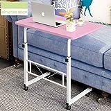 WETERS Sofa Beistelltisch tragbaren Laptop-Schreibtisch Schreibtisch Nacht heb- Mobil Schreiben faul Tisch(pink)