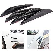 Pegatinas de fibra de carbono para colocar en el spoiler del coche de Beler, universal, protección contra choques, de 13,2 cm, 4 unidades
