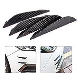 beler 4tlg 13.2cm Universal Carbon Faser Auto Vorderseite Stoßstange Körper Spoiler Schutz Streifen Aufkleber Bar
