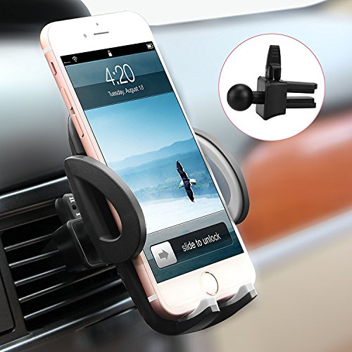 Globalink(TM) Car Air Vent Holder Phone Cradle Adjustable Car Cradle Compatible with iPhone 7 7Plus SE 6s 6 Plus 5s 5 4s 4,Samsung Galaxy S7 S6 S6 Motorola and More
