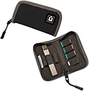 Carrying Case Cover Holder Wallet for JUUL - Fits Most Popular Vapes, Pods & USB Charger - Device Not Incl