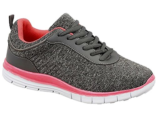 Ladies Mesh Lace Up Trainers Lightweight Casual Comfort Sports Gym Running Shoes...