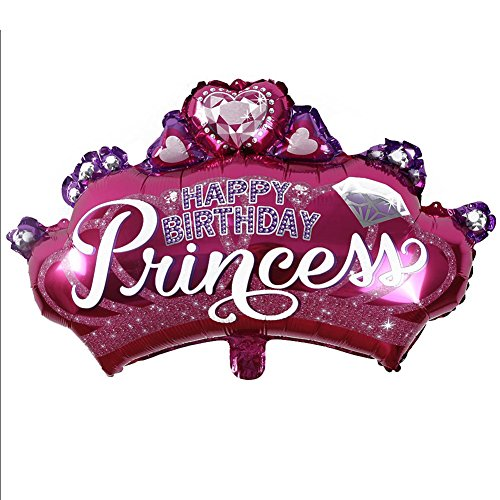 fibUNIve Kids Favors Birthday Party Supplies Aufblasbare Prinzessin Kronenform Folienballon
