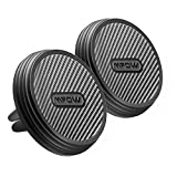Mpow magnetische KFZ HandyHalter fürs Auto Luftöffnung für für alle Smartphones welches Gewicht weniger als 300g oder GPS-Geräte,2 Stück Kohlefaser Autohalter