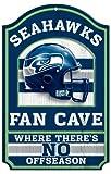 Seattle Seahawks Holz Schild–27,9x 43,2cm Fan Cave Design