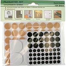 Almohadillas De Fieltro Patín Silla Protección Del Suelo Protección Contra Rasguños 124 Unidad Set