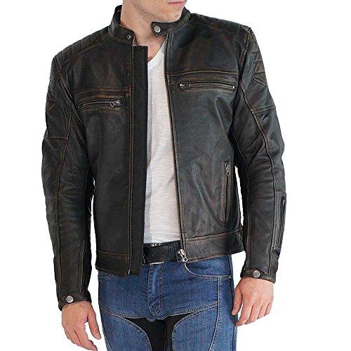Mycl Turell Motorrad Lederjacke Browning braun, braun, L