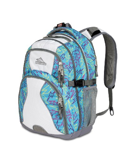 High Sierra 2230-cubic Zoll Swerve Tagesrucksack (blau, weiß) (Daypack Swerve Sierra Rucksack High)