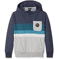RIP CURL Crocker Hooded Fleece - Sudadera para niño, Color Azul, Talla 12