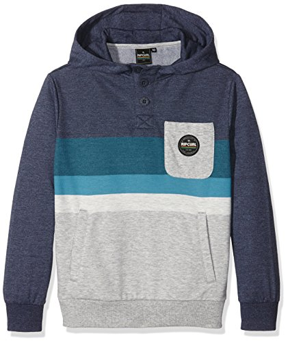 Rip Curl Crocker Hooded Fleece Felpa, Mood Indigo Mar, 12