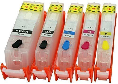 5 leere wiederbefüllbare Druckerpatronen mit Auto Reset