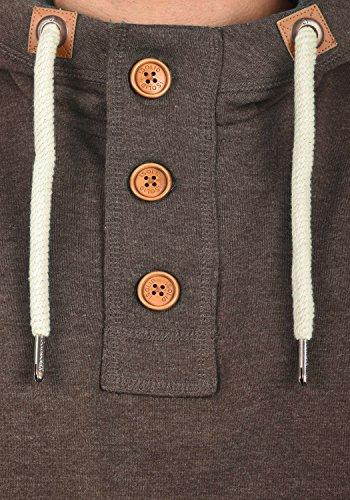 SOLID TripStrip Herren Kapuzenpullover Hoodie Sweatshirt aus hochwertiger Baumwollmischung Coffee Bean Melange (8973)