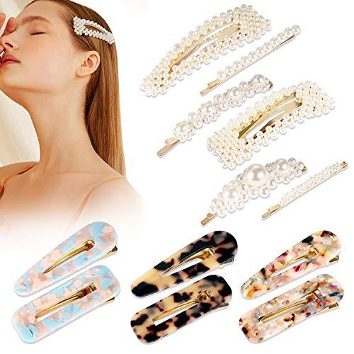 12 pezzi Yosemy Mollette per Capelli Perle Barrettes Sposa Accessori per Capelli Fermagli per Capelli Resina Acrilica Capelli Clip Accessori per le