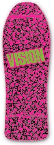 Vision Punk Skull Reissue Skateboard Deck, Hot Pink, 10 x 30-Inch