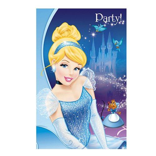 Disney Cinderella Party Einladungen, 6Stück