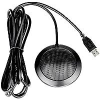 Docooler Micrófono Dondensador Omnidireccional Estéreo Mic Conector USB para la Computadora de Escritorio de la Conferencia del Negocio de la Reunión