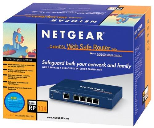 Netgear RP114Router/4Port Switch mit 2gratis PC2000(FA311) Netzwerk Karten -