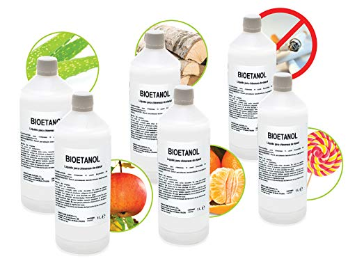 Caja 6 Botellas de 1 litro de Bioetanol FIRSTLINE 6 Aromas distintos