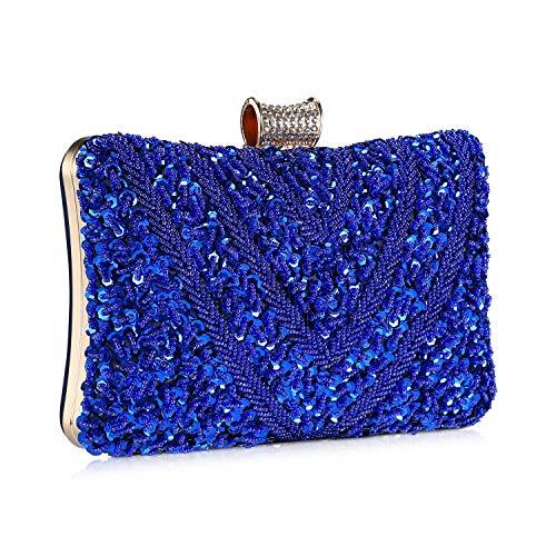 Bolso de Noche Bolso de Hombro Mujer Glitter Diamond Hard Shell Clutches para Boda,Fiesta,Baile,...