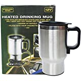 ZXMXY Auto Electric Car Cup Cooler/Warmer Electric Heating Cup CAR HEATED Stainless Steel Car Mug Kettle Coffee Tea Milk -12V 450ML