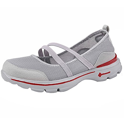 LILICAT Womens Running Walking Shock Absorbing Sports Performance Shoes Gym Mary Jane Trainers Summer Shoes for Women Ladies Mesh Anti Slip Fitness Running Sports Shoes