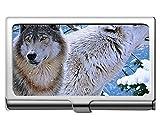 Titulaire de la carte de visite professionnelle, détenteur de la carte nom de l'animal animal loup...