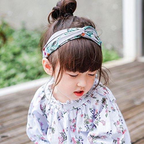 MultiKing Stirnband Children's hair band Gray temperament wild wide-brimmed headband Sweet hair hoop hair extension spring-printed corset new L (Satin Hair Extensions)