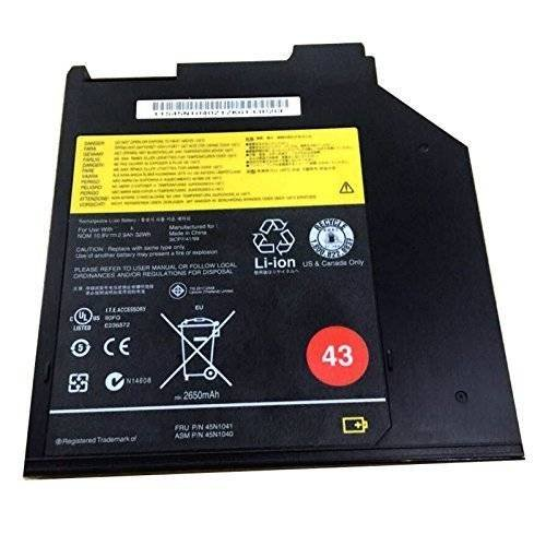BPXLaptop Battery 45N1041 45N1040 (10.8v 32wh 2900mAh) for Lenovo ThinkPad 43 3-Cell Ultrabay Battery (0A36310)