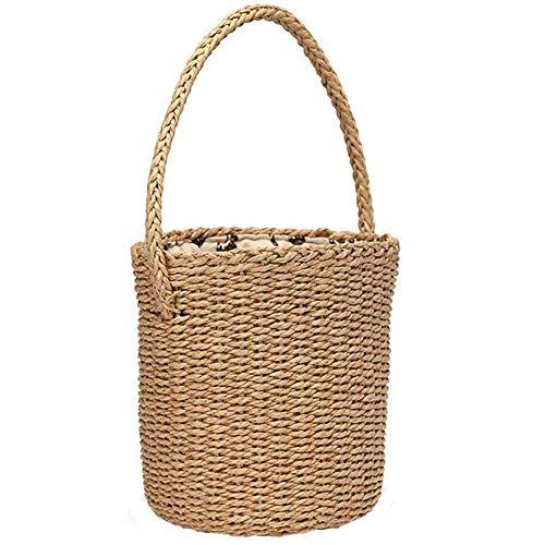 CUHAWUDBA Bali Insel Hand Gewebte Rattan Tasche Stroh Handtasche Handgefertigt Wicker Kreuz K?rper Strand () (Insel Lagerung)