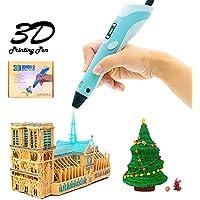 Cosyvie 3D Drucker Stift Set für Kinder/Erwachsene Professionelle 3D Druck Stift mit LED Display 3D mit 1.75mm PLA Filament Minen für Erwachsene, Kritzeln, Künstler, Mädchen, DIY, Zeichnung etc (Blau)