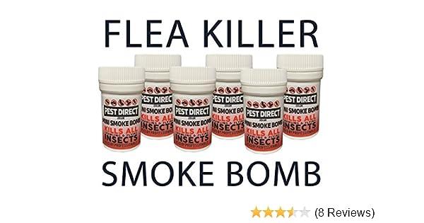 6 x Flea Bomb Foggers - Pet Dog Cat Fleas Flea House Room Smoke Fumers