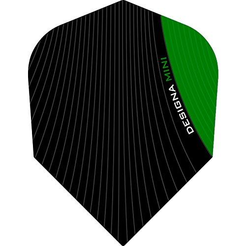 Designa Infusion Dart Flights-Mini Grün-1Set (3)-inklusive Darts Ecke gebogen Kugelschreiber