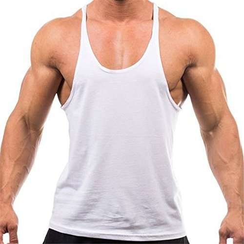 Laitb Herren Sportshirt Sport Tank Top Trägershirt Tanktops Fitness Shirt Unterhemd (Under Armour Kurzarm-unterhemd)
