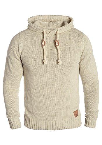 SOLID Pitu Herren Kapuzenpullover Strickhoodie Strickpullover aus hochwertiger Baumwoll-Mischung, Größe:L, Farbe:Oyster Grey (8215)