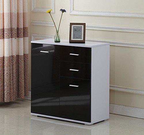 Metal Brown Furnline Bathroom Furniture Side Cabinet Cancun Walnut Satin