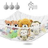 Große Spielzeug Hängematte - 2 Pack Kuscheltiere und Kinder Spielzeug Veranstalter Storage Net hängen Ecke Wand, 51