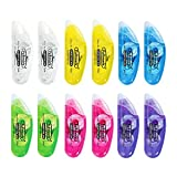#10: FULLMARK CORRECTION TAPE MODEL B, 5mm x 6m Each, 10-pack ( Assorted color )