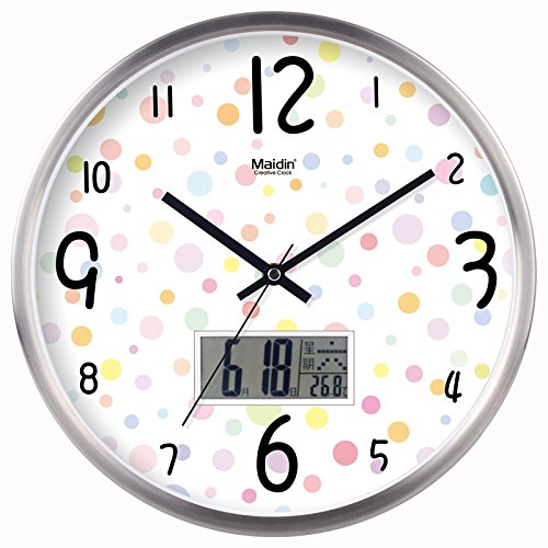 lalapy Wall Clocks Silent Non-Ticking Modern Stylish Elegant Simple Creative Retro for Home Office School Living Room Bedroom, Easy to Read Wallet Creative Quartz, 12